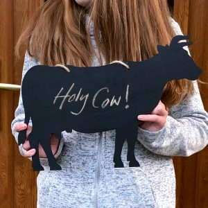 Rustic Cow Chalkboard